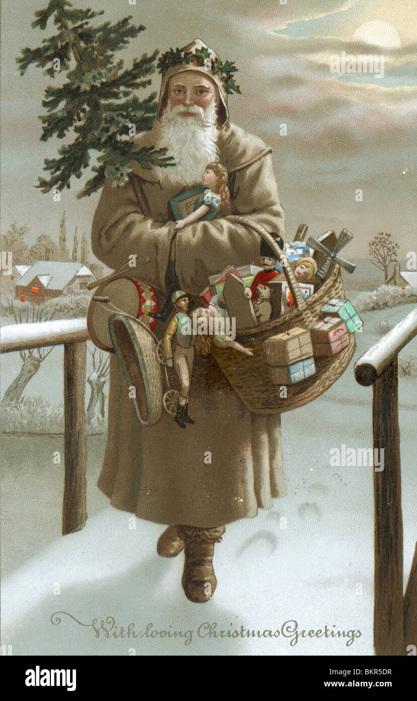 VICTORIAN CHRISTMAS CARD Stock Photo Royalty Free Image