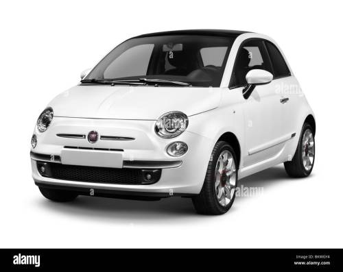 small resolution of 2010 fiat nuova 500 small city car isolated on white background with clipping path stock