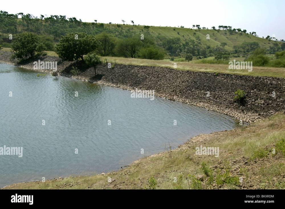 medium resolution of percolation tank at ralegan siddhi near pune maharashtra india stock image