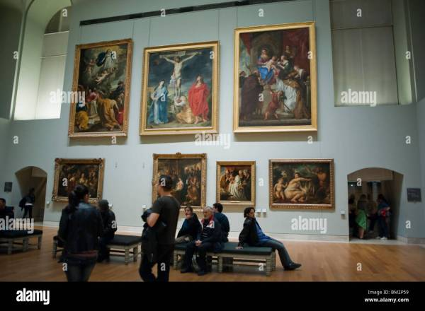 People Visiting Art Dutch Paintings Louvre Museum Stock 29564789 - Alamy