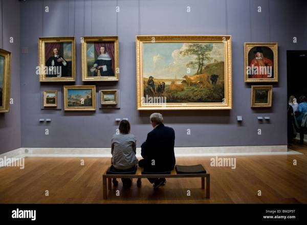 People Visiting Art Dutch Paintings Louvre Museum Stock 29564804 - Alamy