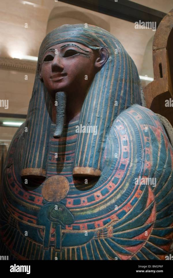 Egyptian Antiquities Of Louvre Museum Stock &