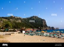 People Kleopatra Beach In Alanya Turkey Stock