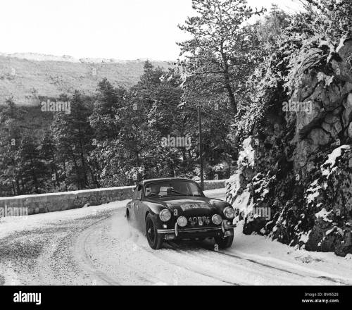 small resolution of ac aceca driven by t clarke on the 1958 monte carlo rally stock image