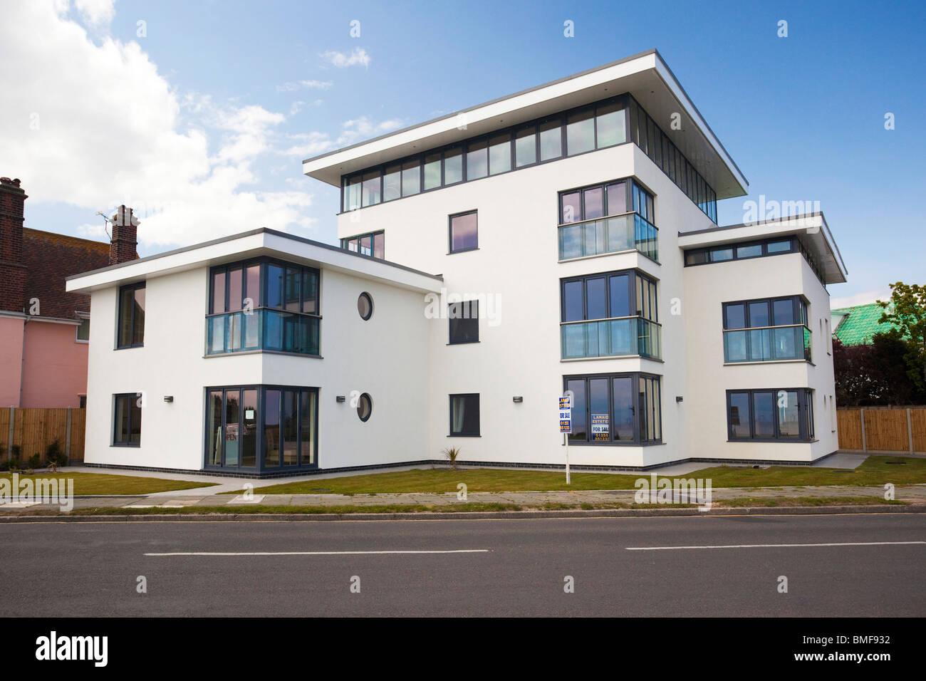 Modern Art Deco Style House At Frinton On Sea Essex UK