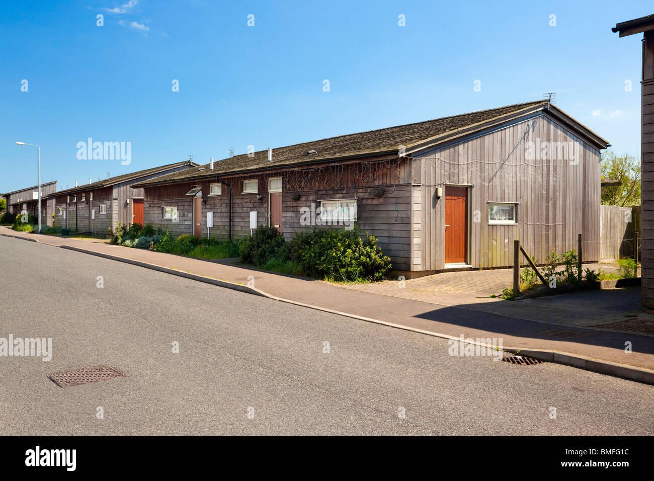 low cost housing in Jaywick Sands Essex UK Stock Photo