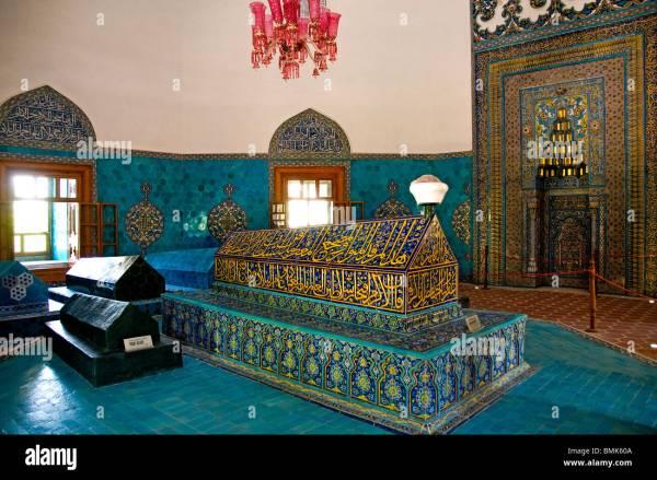 Yesil Cami Green Mosque Bursa Turkey Turkish Islam Stock
