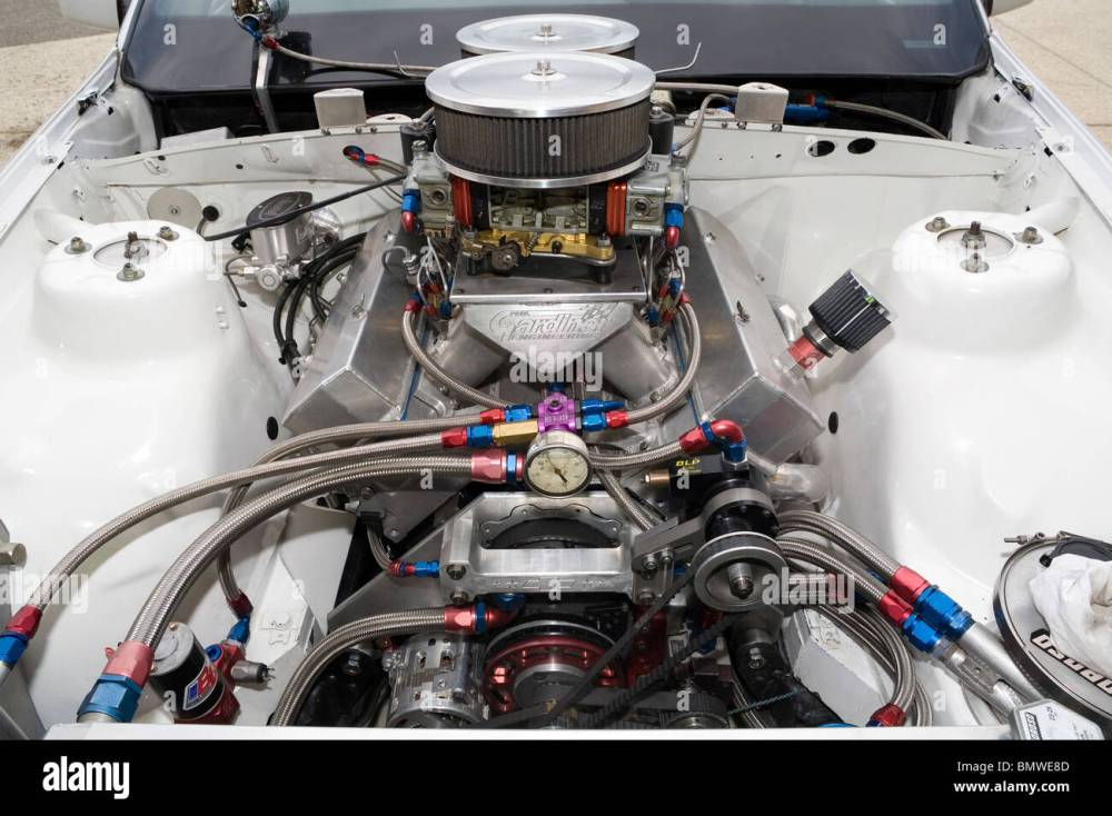 medium resolution of high power v8 drag racing engine stock image