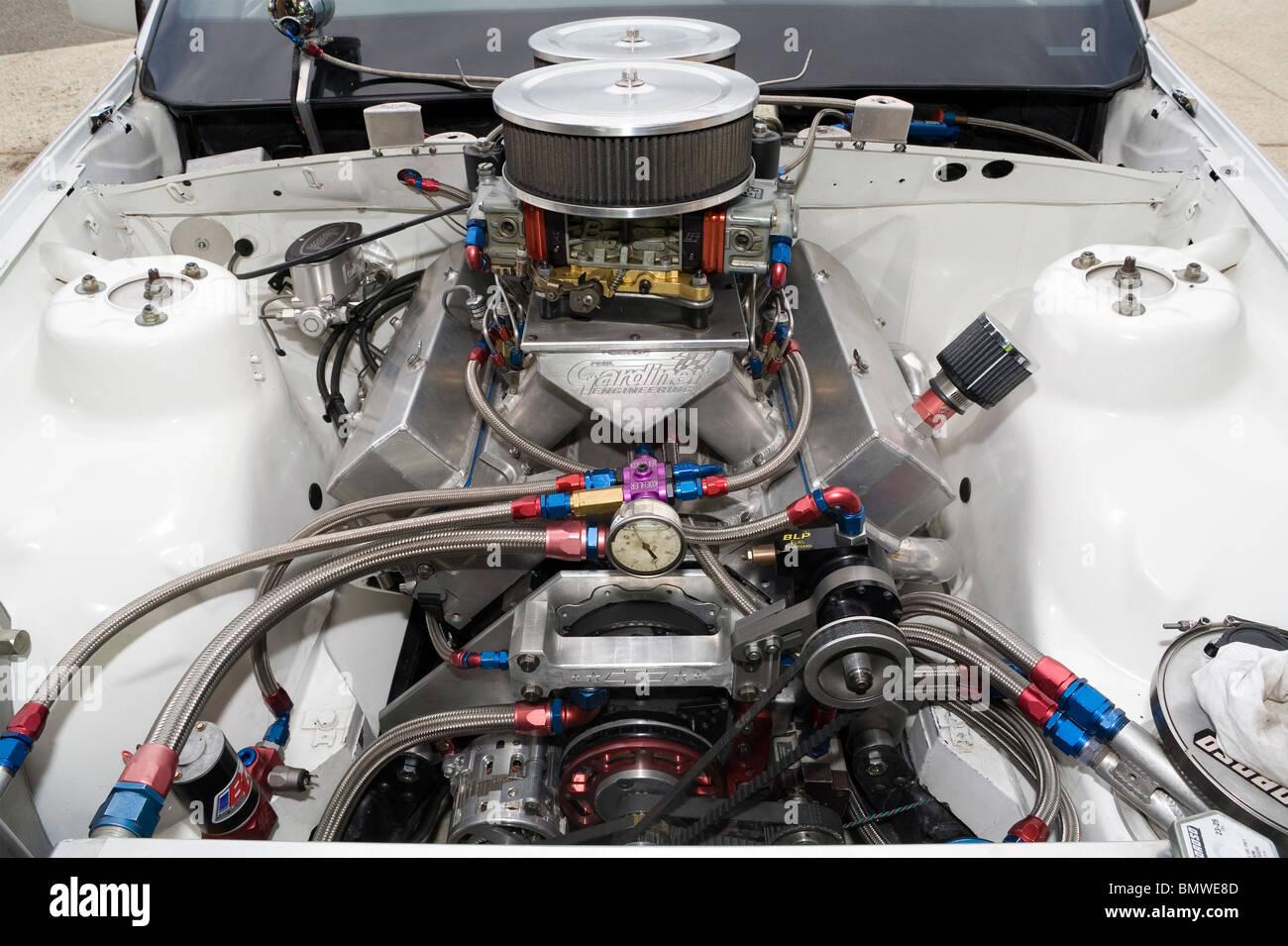 hight resolution of high power v8 drag racing engine stock image