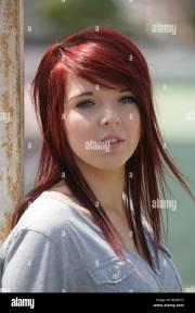 close of pretty teenage girl