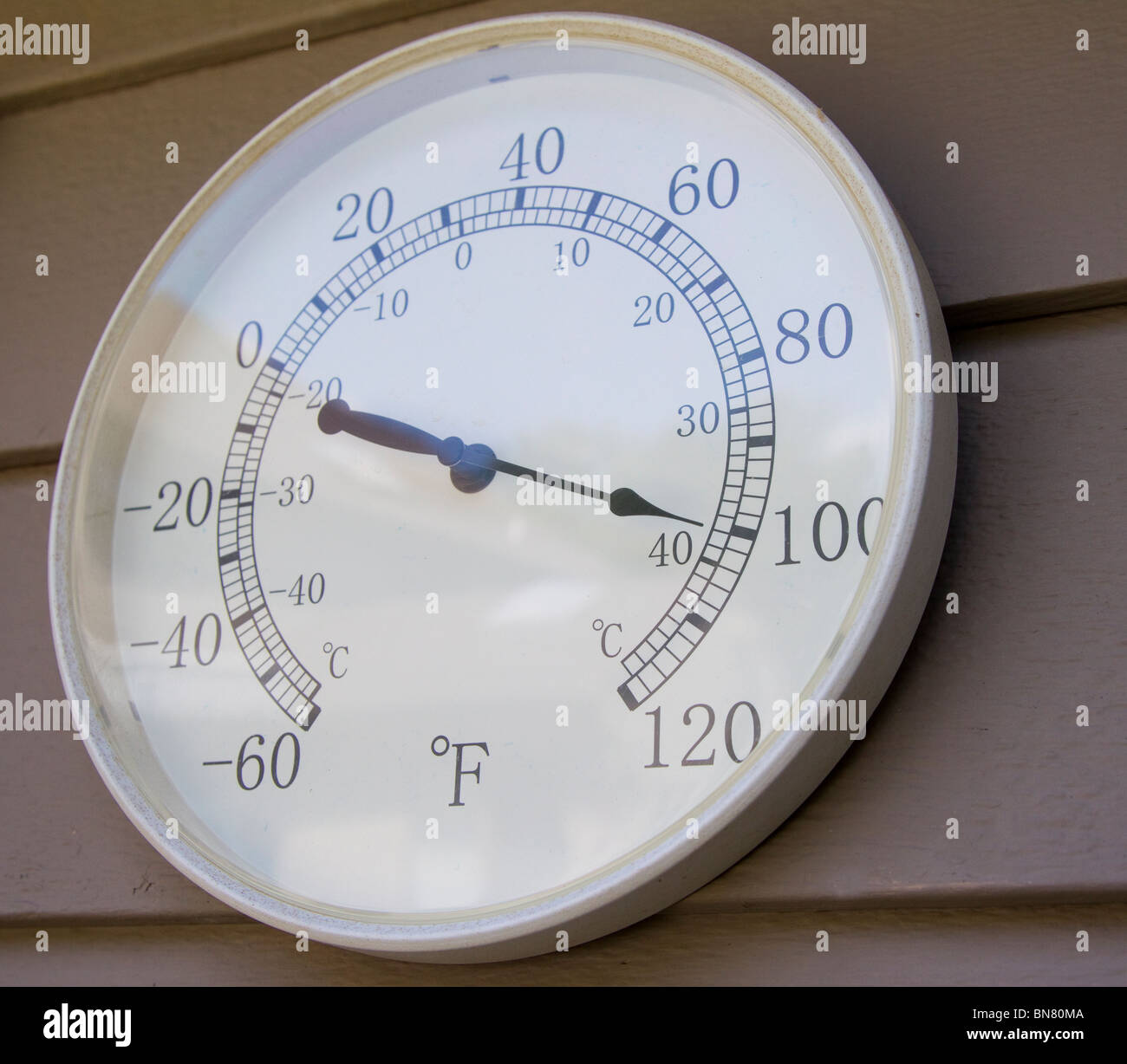 Outdoor Thermometer Showing 100 Degree Fahrenheit