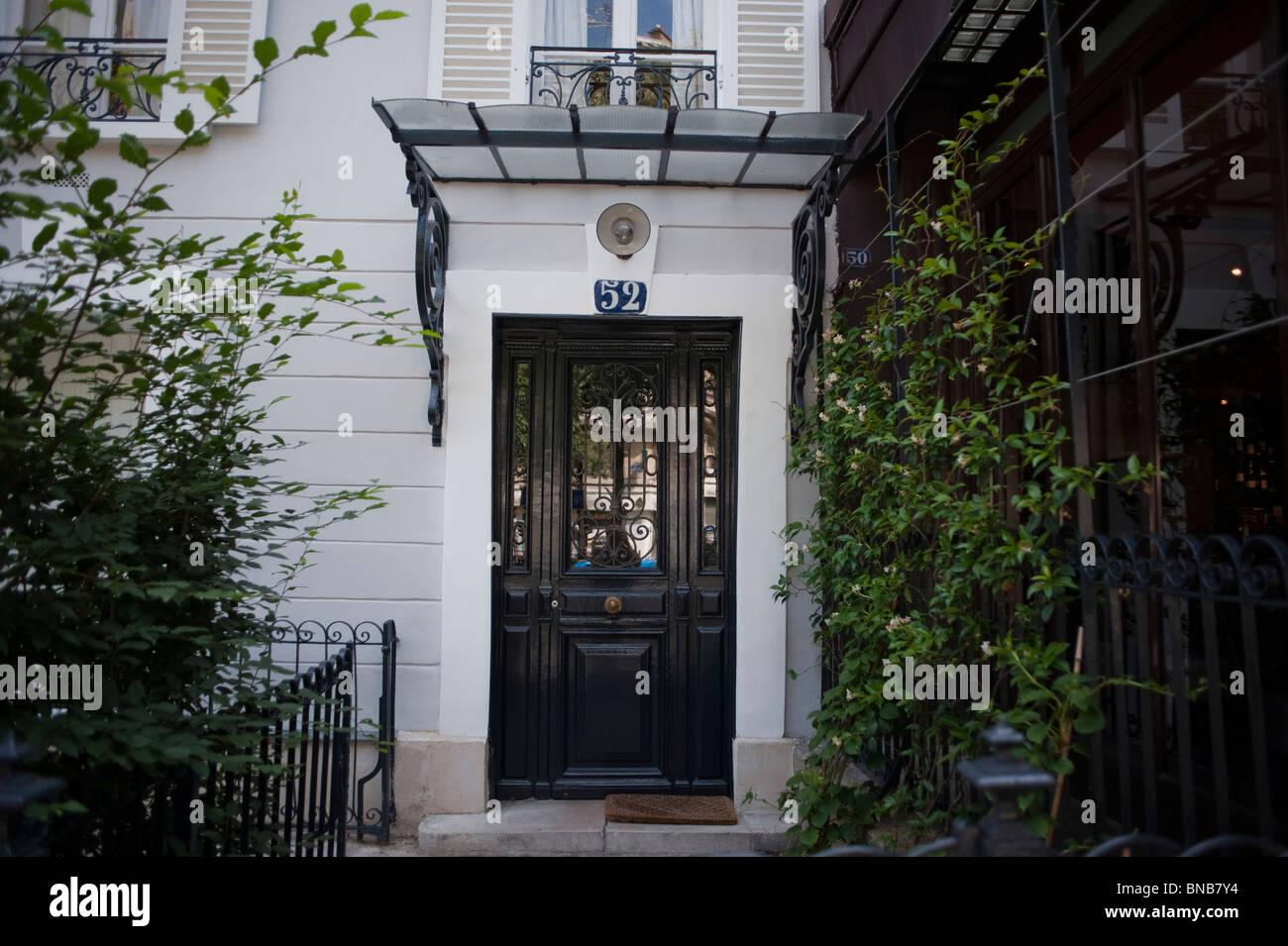 Facade Apartment Building Paris France Front Door