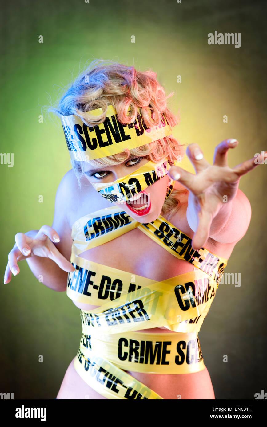 Lady Gaga Caution Tape : caution, Crime, Scene, Stock, Photo, Alamy