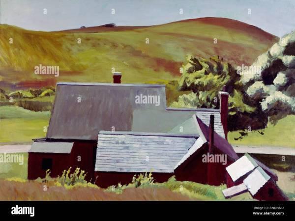 Edward Hopper Painting Stock &