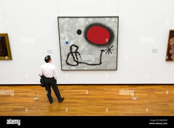 Man Modern Art Oil Painting Joan Miro In National Stock 30541893 - Alamy
