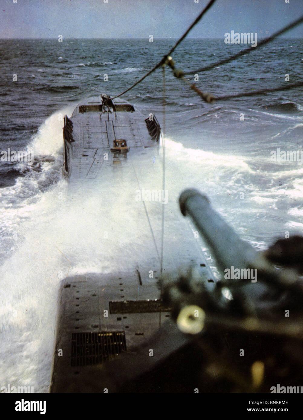 hight resolution of u boat german u boat at sea during ww2 stock image
