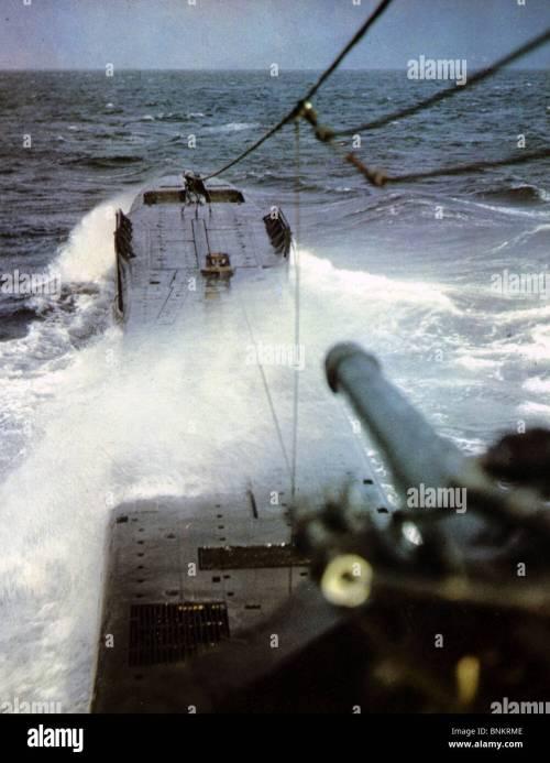 small resolution of u boat german u boat at sea during ww2 stock image