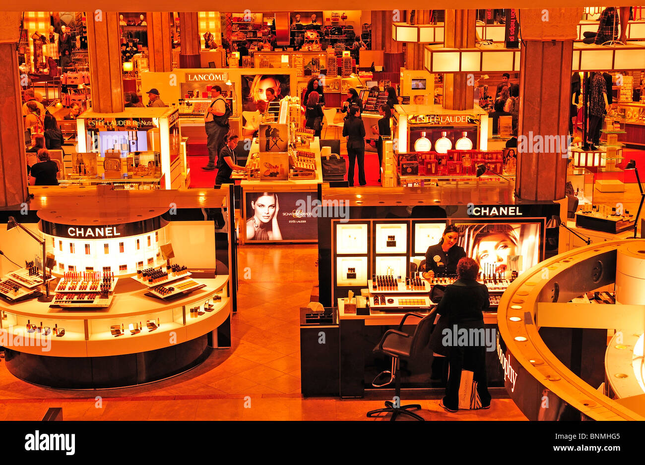 Image result for makeup counters at macy's 34street in the 80's