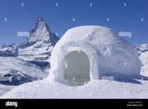 Zermatt Matterhorn Mountains Glaciers Igloo Tourism