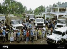 Scenes of Hotel Rwanda Un Trucks
