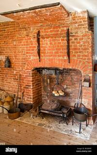Old Brick Fireplace Stock Photos & Old Brick Fireplace ...