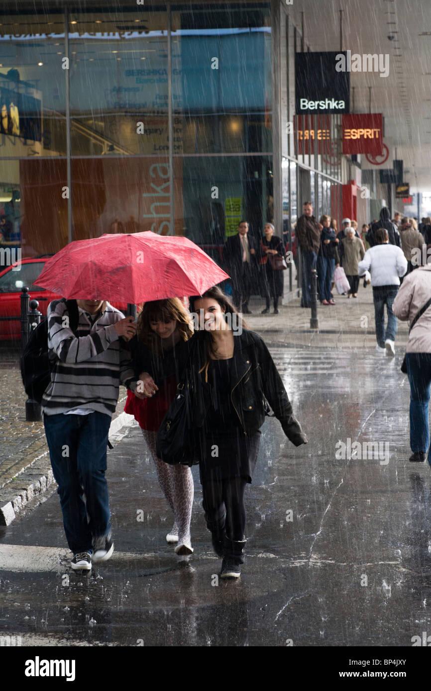 People Walking In The Rain Stock Photos  People Walking