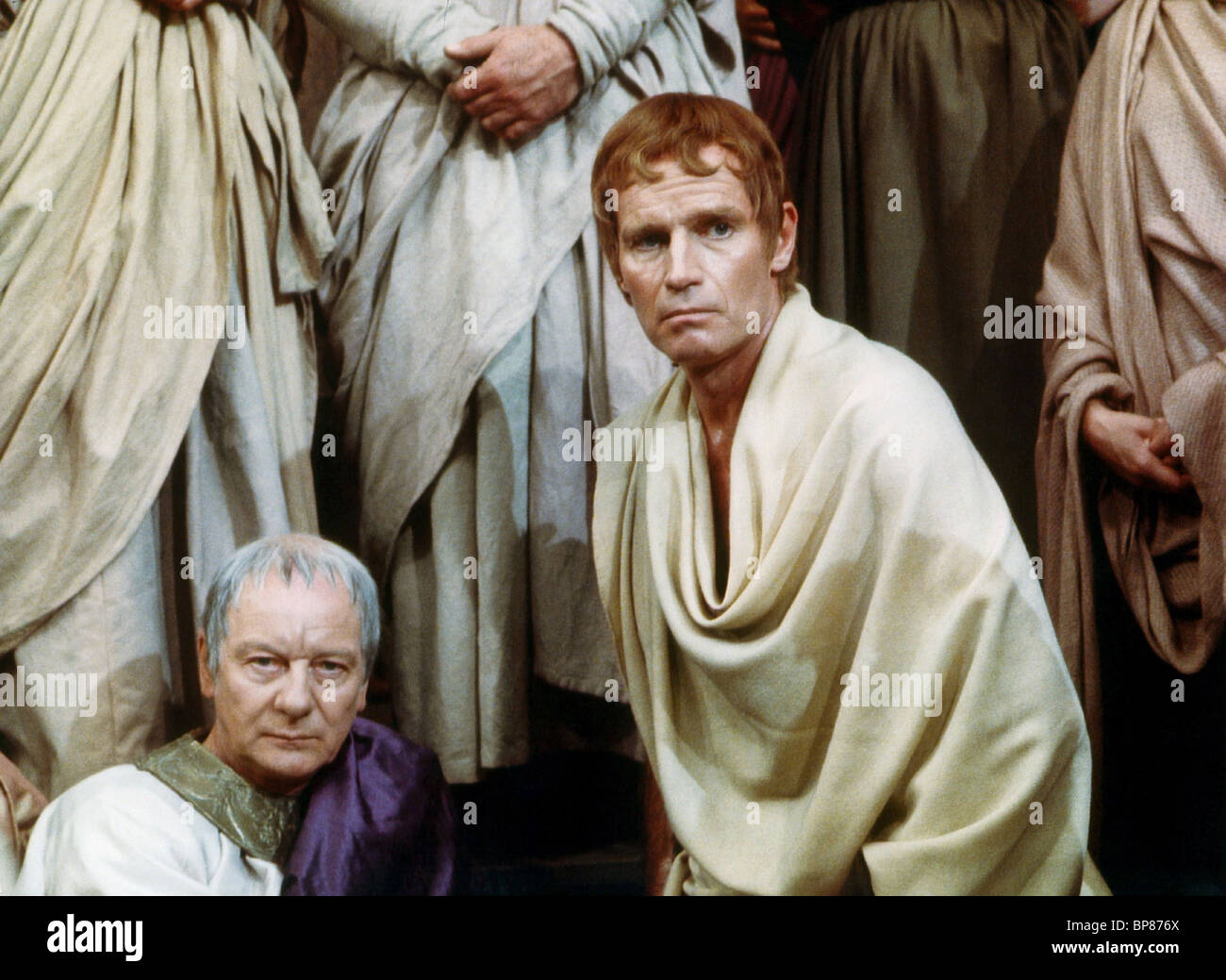 John Gielgud Charlton Heston Julius Caesar Stock Photo