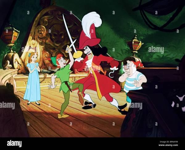 Wendy Peter Pan Captain Hook & . Smee 1953
