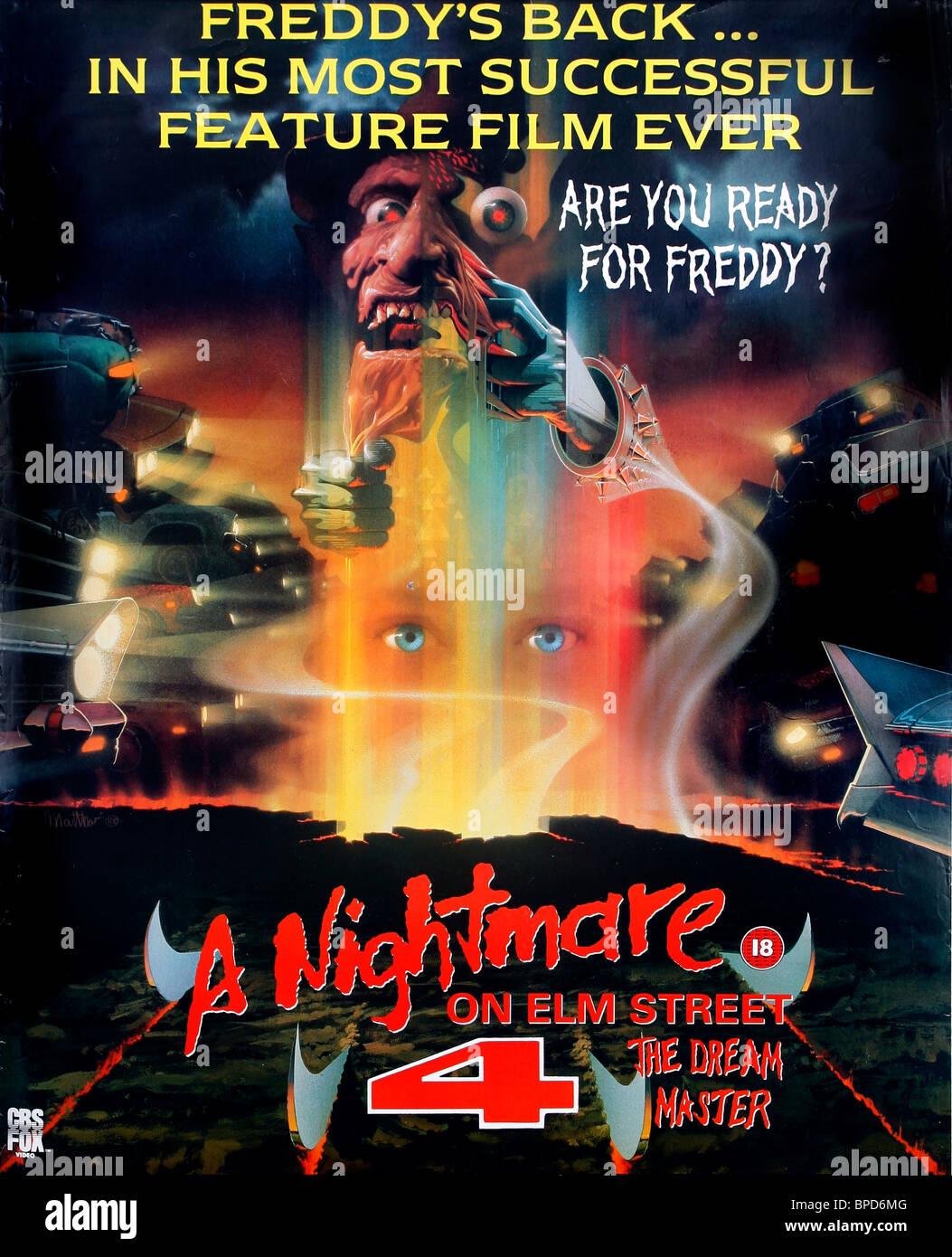 https www alamy com stock photo film posrer a nightmare on elm street 4 the dream master 1988 31023456 html