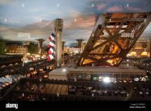 Paris Hotel Las Vegas Nevada Usa Stock