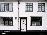 White walls and black window frames on Fishpool Street, St ...