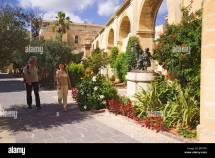 Upper Barracca Gardens Valletta Malta Stock
