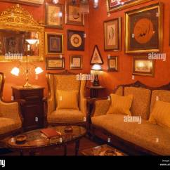 Traditional Lamps Living Room Pinterest Pictures Covering Walls Of Red Turkish With Sofa And Armchairs Lighted