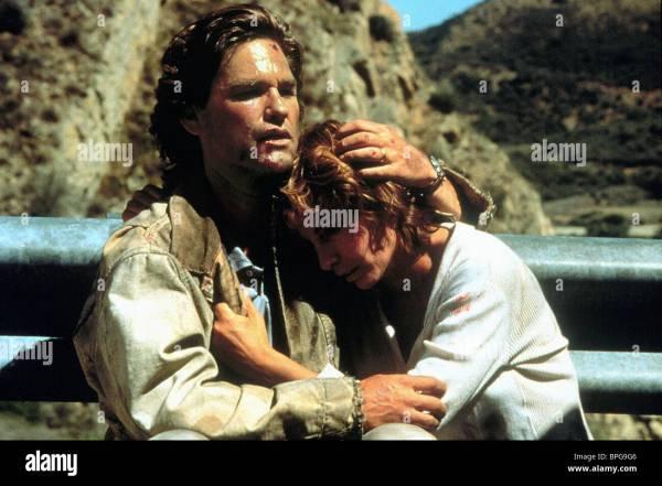 KURT RUSSELL KATHLEEN QUINLAN BREAKDOWN 1997 Stock Photo