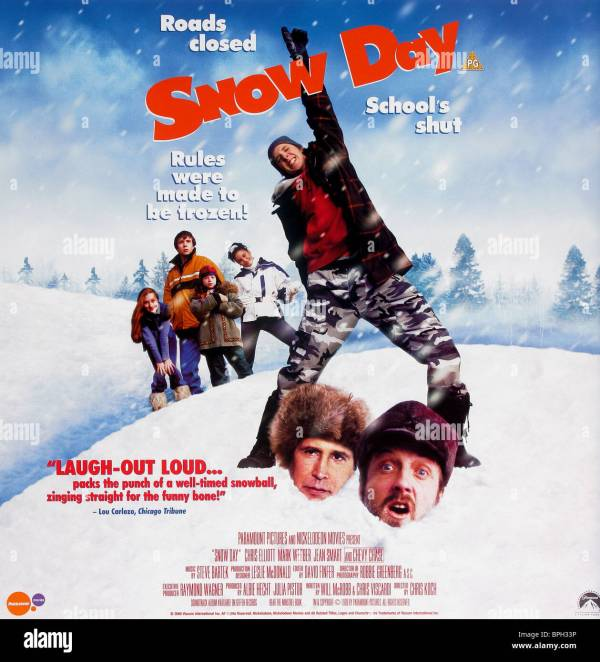 Film Poster Snow Day 2000 Stock 31108442 - Alamy