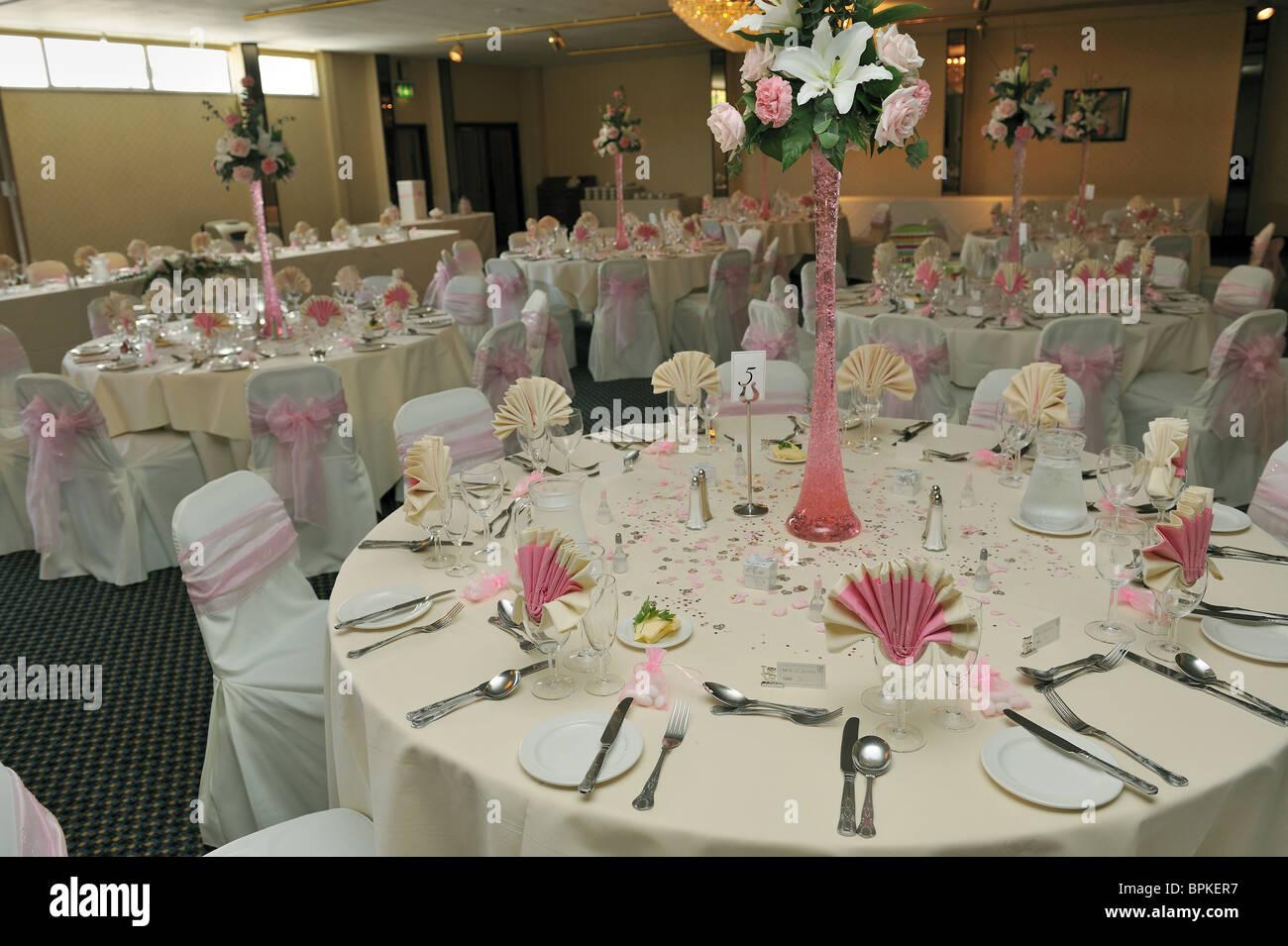 Wedding Reception table layout Stock Photo 31161515  Alamy