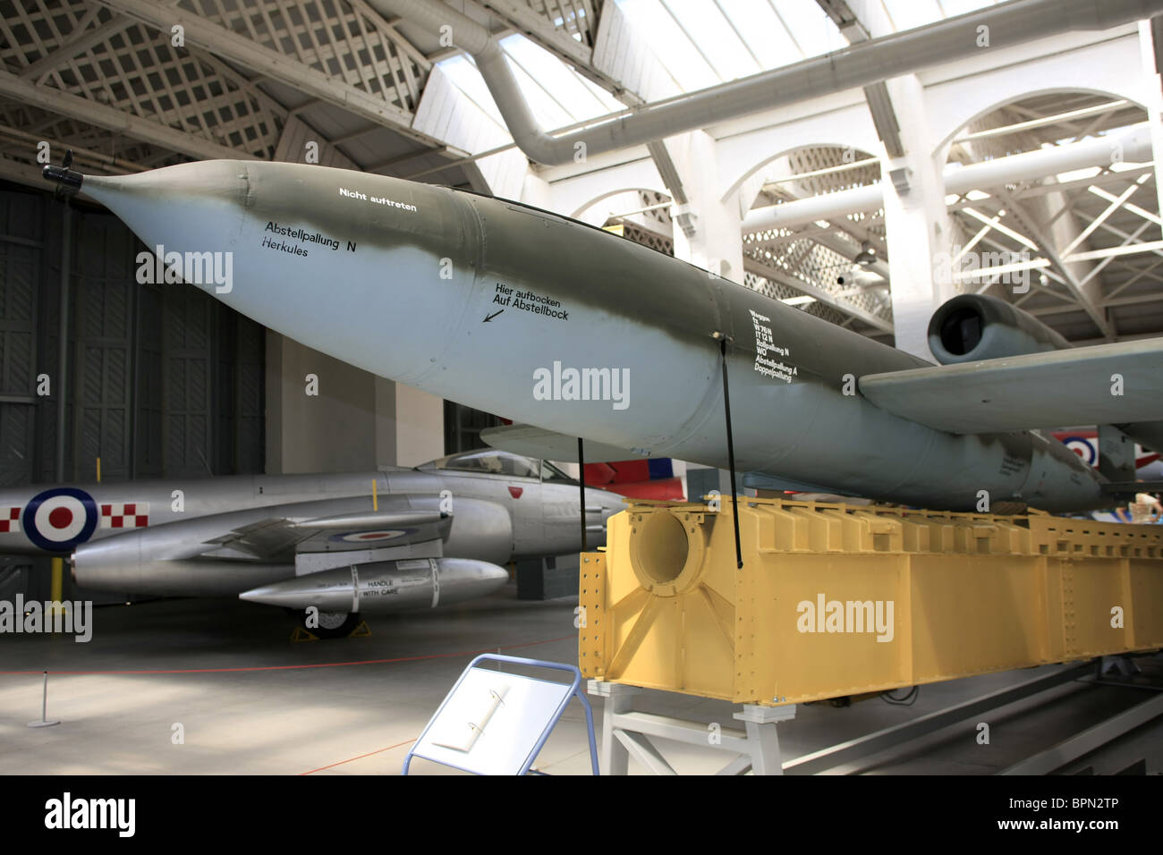 A German WW2 V1 Flying Bomb on display at the Imperial War Museum Stock Photo - Alamy