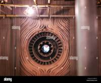 Coal burner in furnace in power station Stock Photo ...