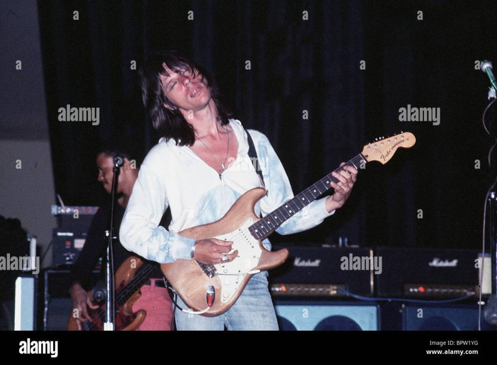 medium resolution of jeff beck musician 1976 stock image