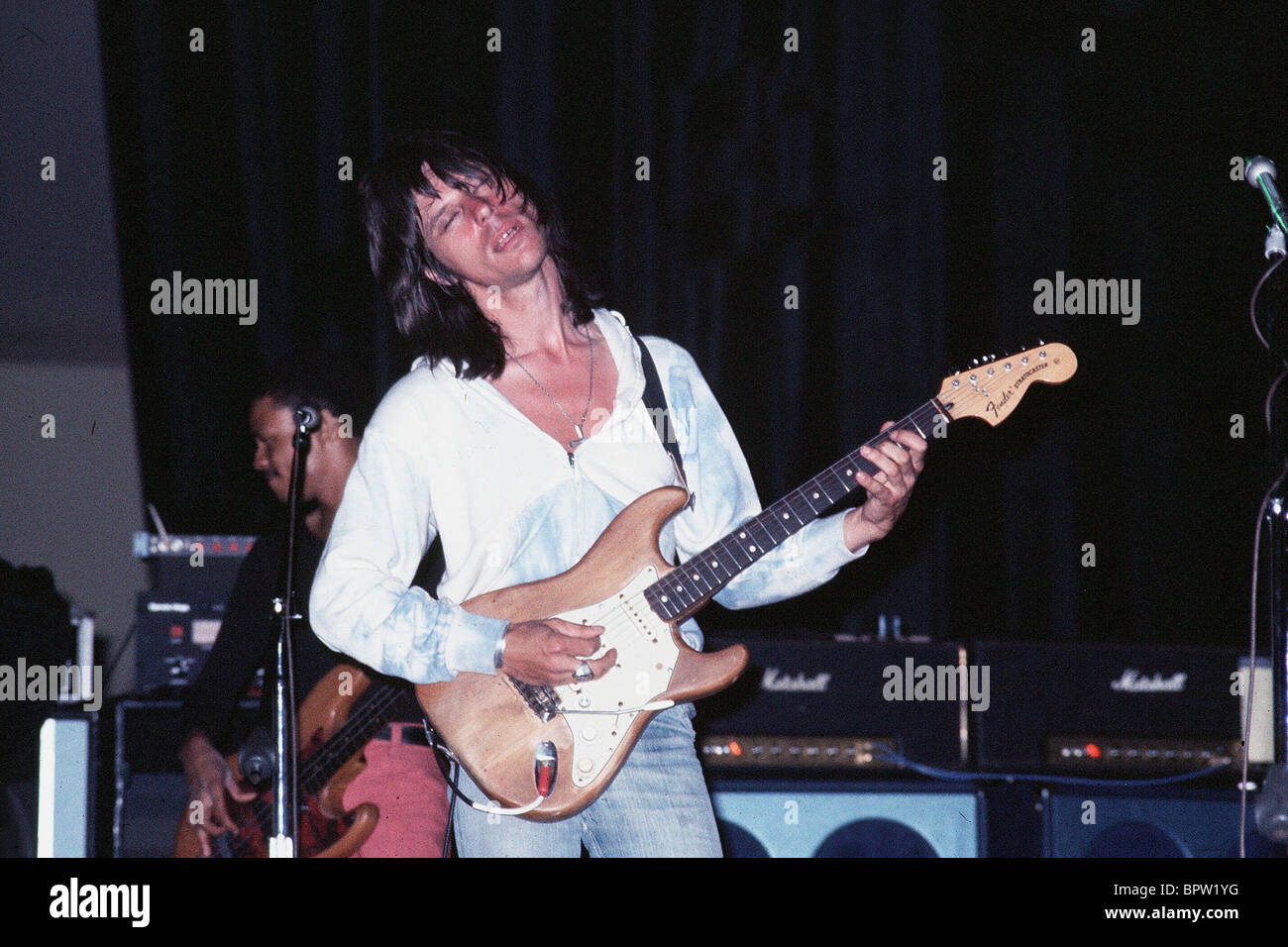 hight resolution of jeff beck musician 1976 stock image