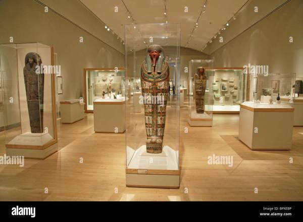 Interior Brooklyn Museum York City Egyptian Stock
