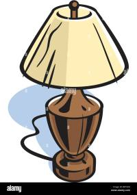 Drawing of a table lamp Stock Photo: 31327612 - Alamy