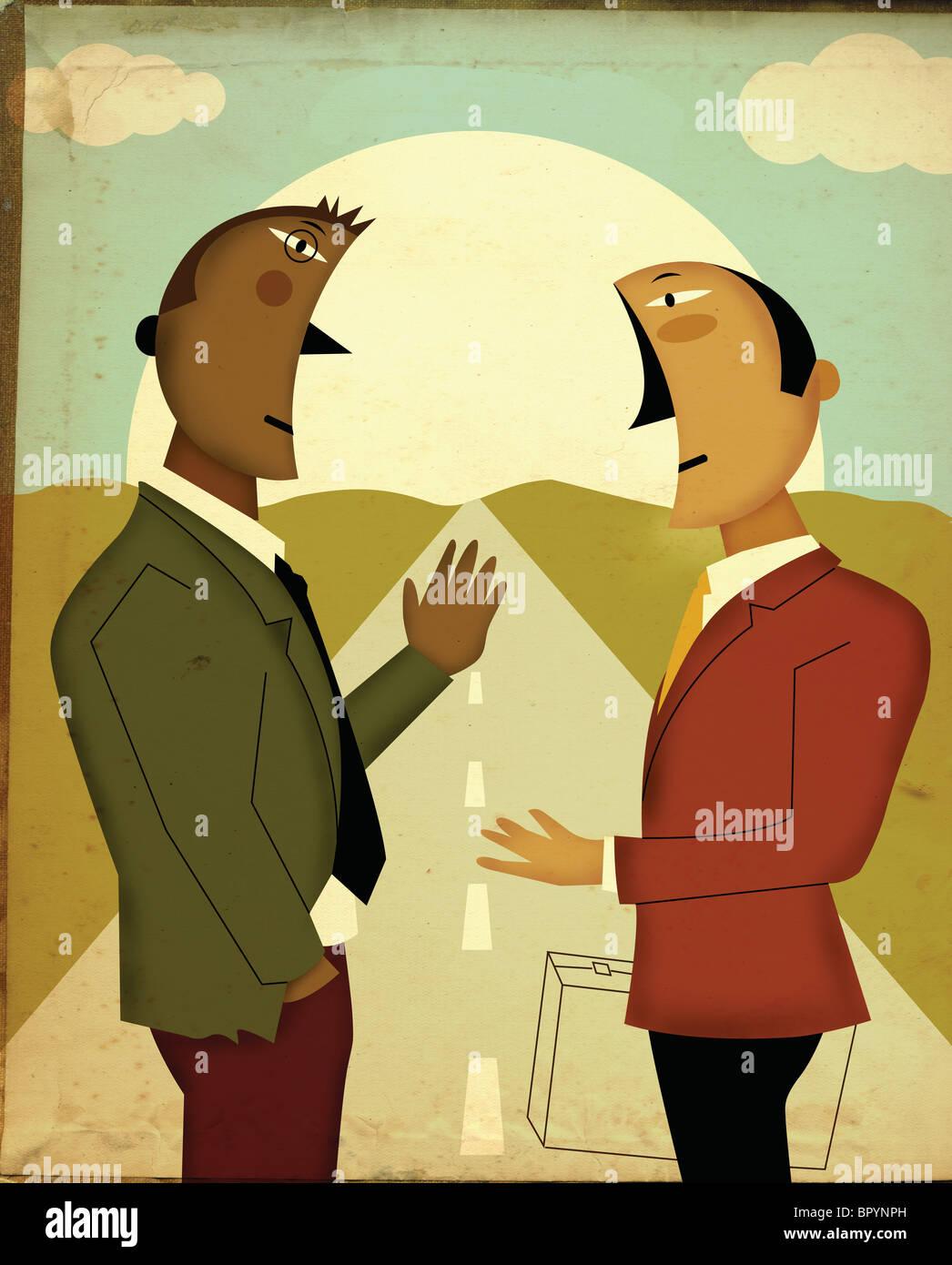 Cartoon Of Two Men Talking Stock Photos & Cartoon Of Two Men Talking Stock Images - Alamy
