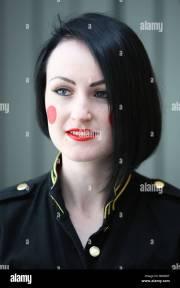 model with black hair blue eyes