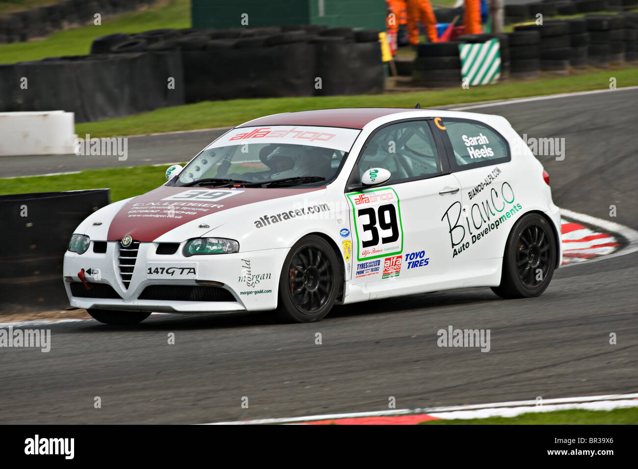 hight resolution of alfashop alfa romeo 147 gta race car at oulton park motor racing circuit cheshire england united