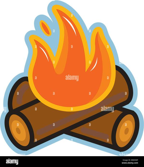 Camp Fires Cut Out Stock Images Pictures Alamy