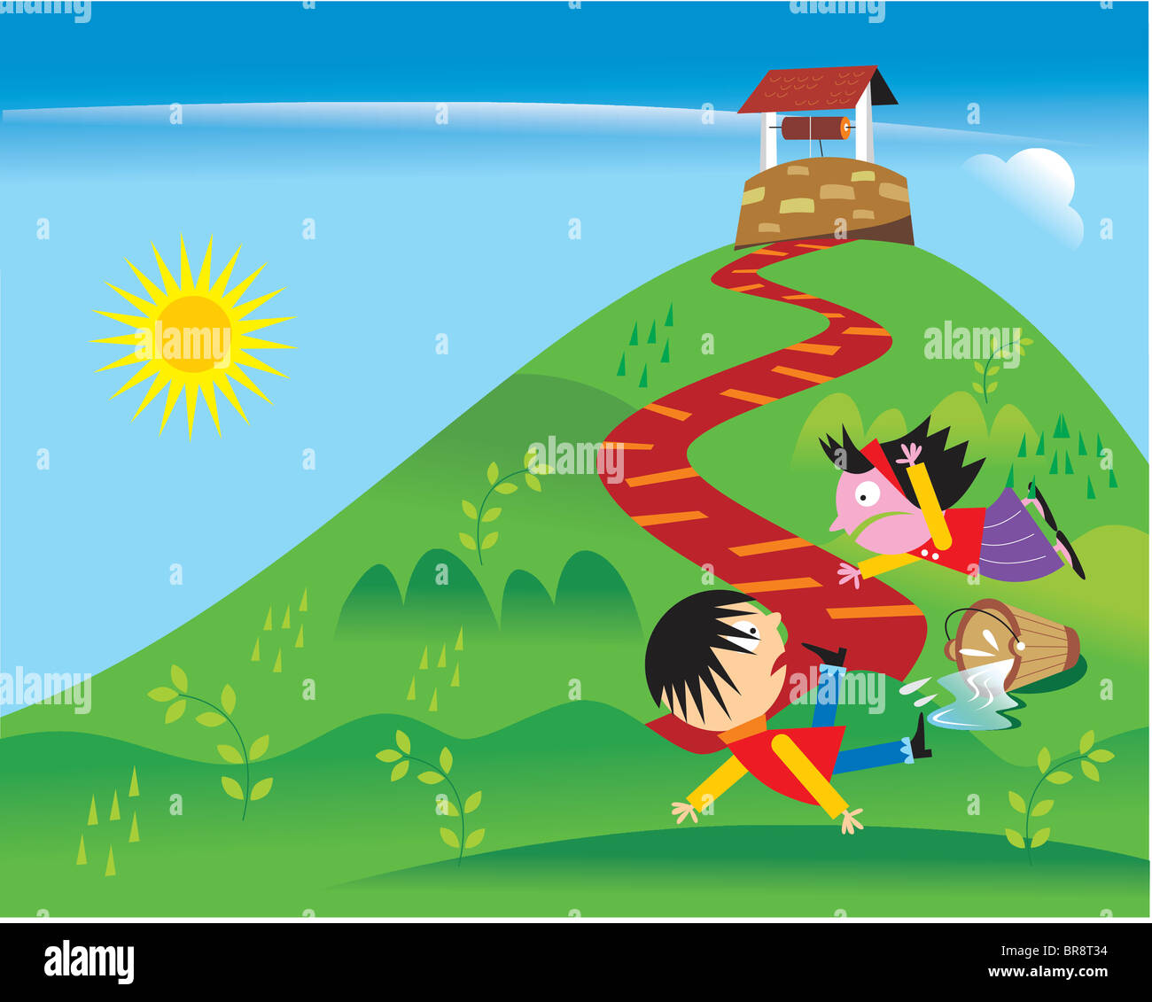 Jack And Jill Falling Down The Hill Stock Photo Royalty