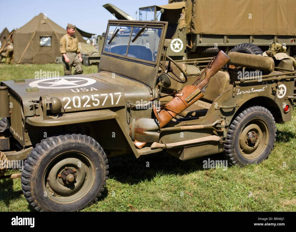 medium resolution of wwii era us army willys jeep stock image