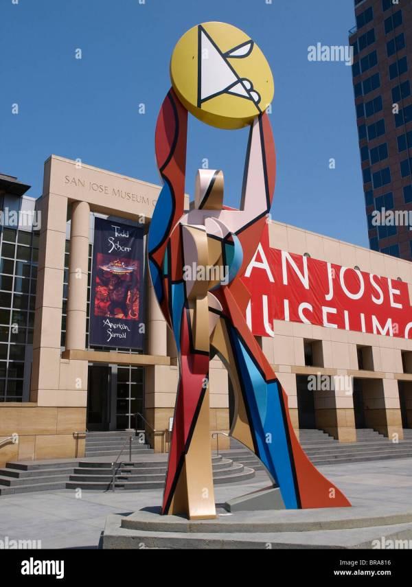 Figure Holding Sun Italo Scanga San Jose Museum Of