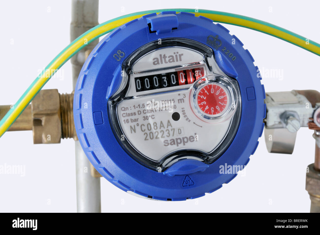 hight resolution of water meter stock image